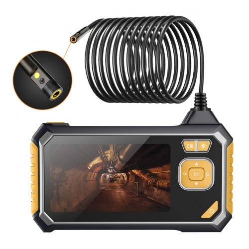 Inskam113-2 Dual-Lens Endoscope Camera for Industrial Inspection Work IP67 Waterproof 2MP Borescope Snake Camera with Semi-Rigid Cable and 4.3inch 108